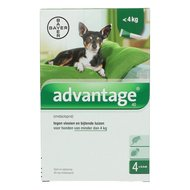 Advantage 40 Spot-On Hond <4kg 4 Pipetten