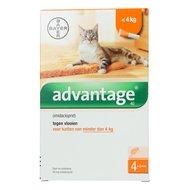 Advantage 40 Spot-on Katze < 4kg 4 Pip