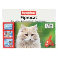 Beaphar FiproCat Spot-On Katten/Kittens >1kg 3 Pipetten