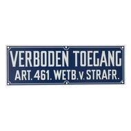 Agradi Bord Verboden Toegang Art.461