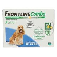 Frontline Combo Spot-on Hond M 10-20kg 6 Pipetten