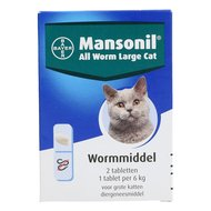 Mansonil All Worm Grote Kat 2 Tabletten