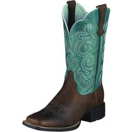 Ariat Western Quickdraw B Brown Oiled Rowdy/Sapphire Blue