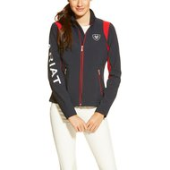 Ariat Ladies Softshell Team Jacket, Navy