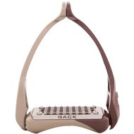BR Stirrups Aerotech Brown/Titanium gold 12cm