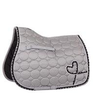 BR Saddlepad General Purpose Organza Poly Cotton Strap Silver Silver/Grey