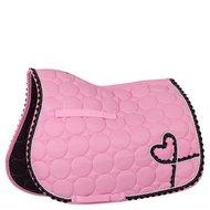BR Saddlepad General Purpose Organza Poly Cotton Strap Silver Silver/pink