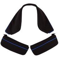 BR Kragen & Tasche für Jacket Pristina Suedine Zier Kobaltblau