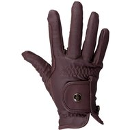 BR Riding Gloves All Weather Pro Leather Feel Brown