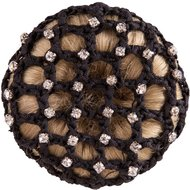 BR Hairnet with Big Mesh and Diamonds Black