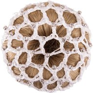 BR Knotnet met Grote Mazen en Diamantstenen Wit