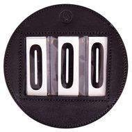 BR Startnummer rund Leder Paar Schwarz 11cm