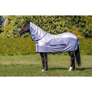 Bucas Buzz-off Rain Full Neck Silver/Blue