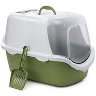 Stefanplast Kattenbak Cathy Easy Clean Wit Groen 56x40x40cm