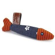 Designed By Lotte Textiel Kattenspeeltje Blauw Oranje 10cm