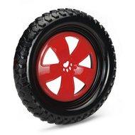 Beeztees TPR Frisbee Reifen m. Seil Schwarz/Rot 24cm