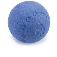 Beeztees Rubber Bal + Pieper Blauw 7,5cm