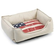 Beeztees Katten Ligbed Stars And Stripes Beige 50x42x18cm