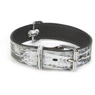 Beeztees Leren Halsband Safari Zwart/Wit