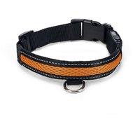 Beeztees Safety Gear Leuchthalsband Ruflo Schwarz/Orange