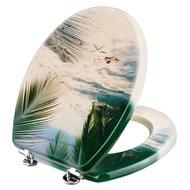 Cornat Palmstrand Toiletbril decor Beige/Decor 3,2kg