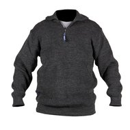 Storvik Brisbane pullover with zip 70/30 Antra