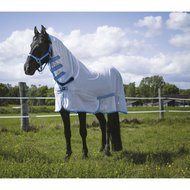 Riding World Fly Rug Combo White/Blue