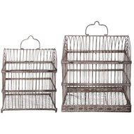 Esschert Aged Metal Vogelkäfige Set S/L