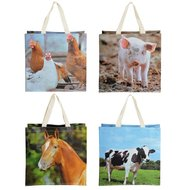 Esschert Shopping bag farm animals