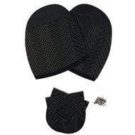 Gevavi Soles + Heels PVC Black