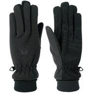 Harry's Horse Fleece Handschoenen Lange Boord Zwart