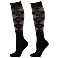 Harrys Horse Socks Check Black/Anthracite/Grey
