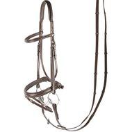 Harrys Horse Bridle Luxury Flash Noseband Brown