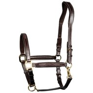 Harrys Horse Head Collar Leather Padded Supreme Brown Cob
