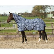 Harry's Horse Vliegendeken French Blue Hals Zebra