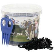 Harrys Horse Petits Élastiques Magic Braids Pot Noir