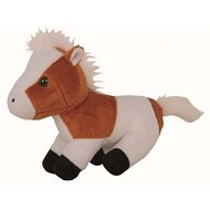 HKM Soft Toy Horse Sitting Brown / White