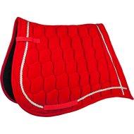 HKM Velvet Saddlecloth Antique Red/Silver