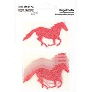 Strijkmotief Galop Rood Flex Moda Glitter 5st