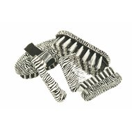 HKM 7 Piece Grooming Set Zebra