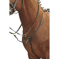 HKM Breastplate/martingale Brass Fittings Black