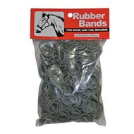 HKM Plaiting Bands Bagged Black