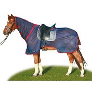 HKM Anti Fly And Riding Sheet Nizza dark blue/red