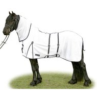 HKM Anti Fly And Riding Sheet Cannes White/Black