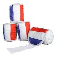 HKM Polarfleecebandages Flags Set 4st Vlag frankrijk