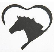 Strijkmotief Hart Met Paard Zwart