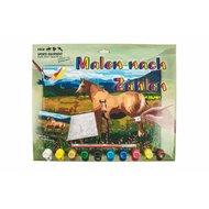 HKM Malen nach Zahlen Pferd mit Fohlen