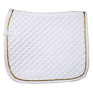 HKM Saddle Cloth Piping Dressage White/Gold