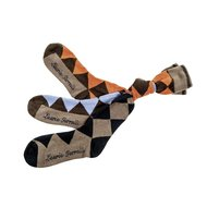 HKM Reitsocken Golden Gate check Braun/Orange 39-42