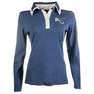 Lauria Garrelli Shirt Met Lange Mouw Roma Middelblauw